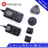Type interchangeable adaptateur d'alimentation de C.C à C.A. de 5V 6V 9V avec le R-U nous fiches d'UE d'Au