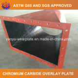 Плита верхнего слоя карбида хромия для парашюта фидера угля