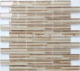 La taille de la puce du grain de bois marron 23x73mm Brown Bande d'usine de la Mosaïque Mosaïque de verre mosaïques de dosseret