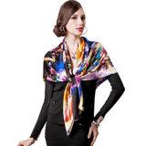 A impressão digital personalizados de alta qualidade lenço de seda (HJ1707-051)