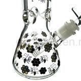 Rokende Waterpijpen 5mm van het Glas van de Waterpijp van het Ijs van de Druk van de Basis van de beker (S-GB-257)