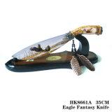 Ornamentação 35cm da HOME da decoração da tabela da faca da fantasia