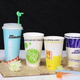 Tazze su ordinazione del frappè della tazza di carta del caffè dell'acqua di eliminazione dell'OEM