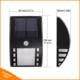 2LED luz solar del pasillo de la pared del sensor de movimiento del acero inoxidable PIR