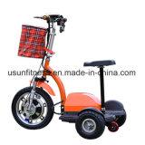 Nuovo motorino elettrico piegante di mobilità del triciclo per gli anziani