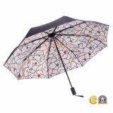 أسود كسا [سون] ثني مظلة مع [أبس] مطّاطة دهانة مقبض