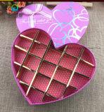 Коробка горячего украшенный лиственным орнаментом картона шоколада упаковывая в форме сердца