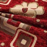 Shaoxingのホーム織物赤いカラーヤーンの染料100%回されたポリエステルシュニールファブリック