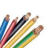 Cable de tierra de cobre aislado PVC amarillo de la base del verde