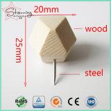 Perni di legno capi geometrici di spinta del commercio all'ingrosso 25mm per il grippaggio dell'ufficio