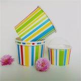 Heißes verkaufendes kundenspezifisches Eiscreme-Papiercup mit Kappen-Löffel