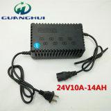 24V de slimme Lader van de Batterij van het Lood Zure die voor 10-14ah Elektrische Fiets en Auto wordt gebruikt