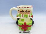 Mok van de Kerstman van de Decoratie van Kerstmis de Ceramische met Deksel