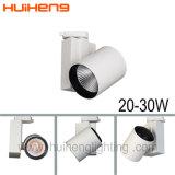 Color blanco de alta calidad de fabricación comercial de la luz de la pista LED COB