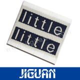 Etiqueta tecida do texto do saco da roupa do vestuário do projeto algodão novo
