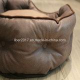 Brown-ledernes Form-Entwurfs-großes Hundebett-Haustier-Zubehör-Luxuxhaustier-Sofa