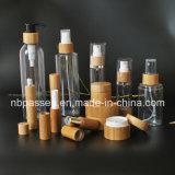 Vaso de acrílico de bambu jarra de acrílico para embalagem de cosméticos (PPC-BS-002)