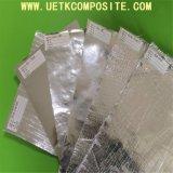 Tessuto di alluminio della vetroresina con il rivestimento del silicone