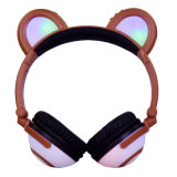 Party를 위한 Panda 귀여운 브라운 Color Design Good Sounds Quality Cat Ear Headphones