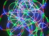 luz lisa do diodo emissor de luz de 110V 220V e redonda flexível da corda do MERGULHO