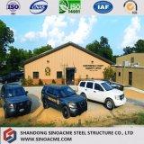 Chambre structurale en métal bon marché de Modualr /Workshop /Warehouse avec le panneau de fibre de verre