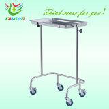 Krankenhaus-Edelstahl-Tellersegment-Tisch-medizinische Laufkatze-Krankenpflege-Karren