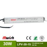 30W 15V imprägniern Fahrer der IP67 LED Stromversorgungen-LED