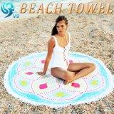方法100%年の綿の円形のビーチタオル
