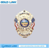 La police Badge l'insigne fait sur commande de vêtement d'emblème de Pin de chapeau de chapeau en métal