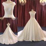 Платье венчания изготовленный на заказ мантии шарика сатинировки шеи шлюпки Bridal