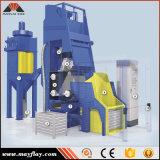 Pedazo automático del trabajo del cargamento de la máquina del chorreo con granalla de la correa de la caída de la fuente, modelo: MB