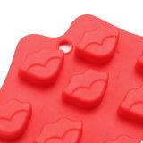 El molde material del silicón de la categoría alimenticia del certificado del nuevo producto FDA, labio atractivo formó el molde de /Chocolate del molde del pudín del silicón