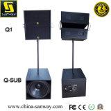 """Q1 conjuguent """" ligne compacte bi-directionnelle alignement de haut-parleur de l'étape 10"""