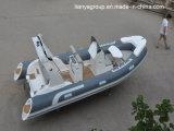 Barcos inflables rígidos de Liya 17feet que pescan los barcos inflables de la costilla