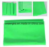緑1.5mのヨガのPilatesのレジスタンス・エクササイズの適性バンド体操