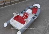 中国のボート6.6mの速度の漁船PVC膨脹可能な肋骨のボート