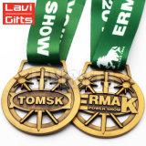緑のリボンが付いている安い良質カスタム緑メダル