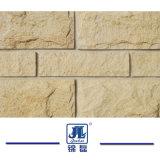 صفراء أردواز يفرش فطر [ستون ولّ] واجهة فطر حجارة لأنّ جدار [كلدّينغ] جدار ركن