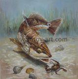 À la main de la vie marine de la peinture d'huile directement à partir de l'atelier de l'artiste