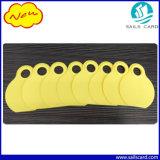 De gele Markering van de Hals van het Vee (Leeg of Genummerd)