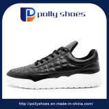 最新の革方法白い偶然靴は女性のために卸し売りする