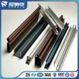 Profil en aluminium de couleur de GV d'enduit différent de poudre pour la porte de guichet