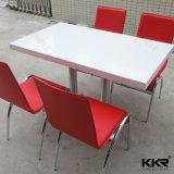 Surface solide table de restaurant avec 061002 de la jambe en acier inoxydable