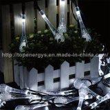 Lumières actionnées solaires de 20/30 de DEL de l'eau de baisse de mariage chaîne de caractères de fête de Noël