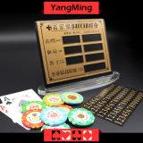 La mesa de póquer Baccarat cobre puro entretenimiento Material de la tarjeta de Apuesta Casino Tabla límite firmar con imán agarrotado (YM-LC08)