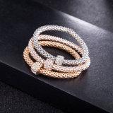 Bijou multicouche de bracelet à chaînes de diamant de Zircon de femmes de mode