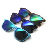 Óculos de sol Vintage reflexivo de plástico com o logotipo personalizado