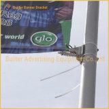Поддержка гибкого трубопровода знамени плаката Поляк уличного фонаря объявлений напольная