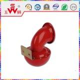Corne de l'Escargot électrique métallique rouge 12V L'avertisseur sonore