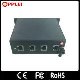 Prendedor do impulso da montagem de cremalheira das portas do protetor 8/16/24 da potência do Ethernet do gigabit